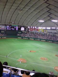 今年最初の東京ドーム、読売戦