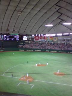 今日は東京ドーム。