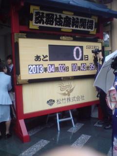 「歌舞伎座新開場 柿葺落 四月大歌舞伎」(第一部)を観る