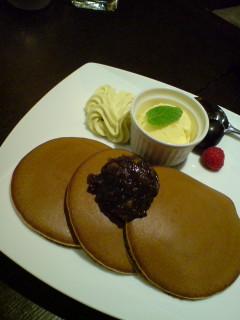 文明堂の三笠生地のパンケーキ
