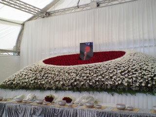 蜷川さん(7)ご葬儀に。